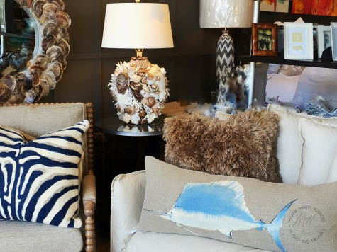 Hand Painted Pillows by Dransfield and Ross.